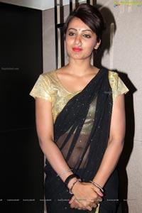 Tejaswi Madivada in Black Saree