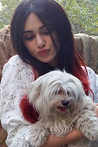 Adah Sharma with Pets