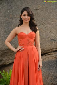 Tamannaah in Orange Dress
