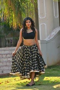 Hebah Patel Black Dress