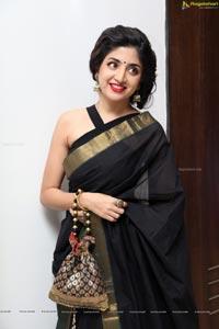 Poonam Kaur Black Saree