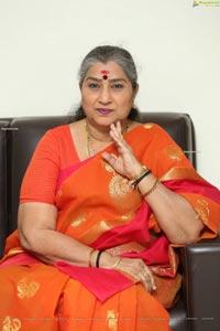 Annapoorna at Annapurnamma Gari Manavadu Interview