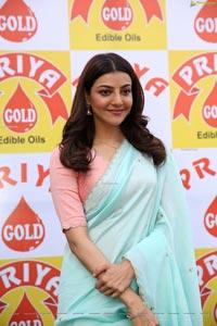 Kajal Agarwal at Priya Gold Oils Promotional Activity