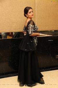 Kusumm in Black Designer Lehenga