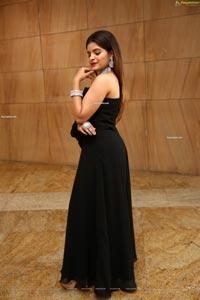 Kusumm in Black Designer Dress