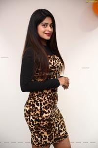 Shravani Varma in Cheetah Print Dress