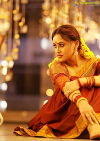 Sony Charishta Stills in Traditional Saree