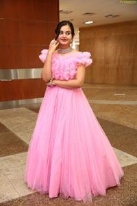 Vaanya Aggarwal in Baby Pink Gown