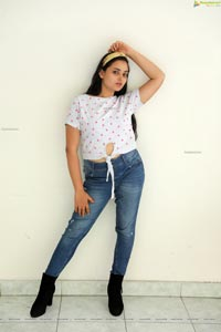 Vaanya Aggarwal in White Top and Jeans
