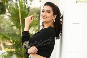 Manjusha in Black Tie Front Top and Jeans