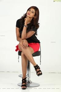 Sweta Singh in Black Tee and Pink Mini Skirt
