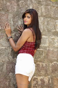 Sweta Singh in Red Crop Top and White Shorts