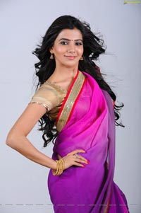 Samantha in Pink Saree