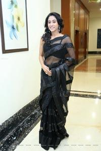 Regina in Hot Black Saree
