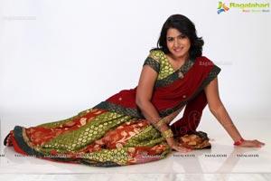 Tanusha Swathi in Half Saree