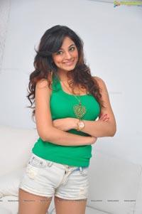 Shilpi Sharma in Green Dress