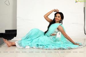 Meghna Mandumala in Half Saree