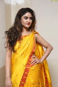 Sony Charishta Yellow Saree