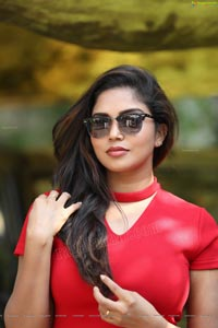 Karunya Chowdary Red Dress