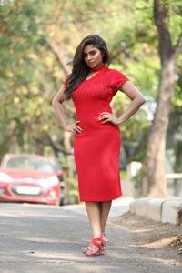 Karunya Chowdary Red Dress