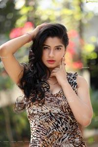 Sheetal Bhatt in Cheetah Print Dress