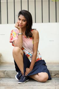 Swetha Mathi in One Shoulder Floral Top