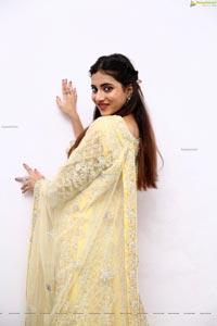 Dimple Thakur in Yellow Designer Lehenga Choli