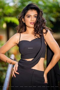 Hemal Ingle in Black Dress