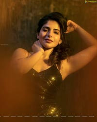 Iswarya Menon in Black Sequin Bodycon Dress