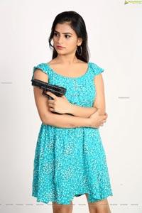 Kiya Reddy in Cyan Blue Floral Dress
