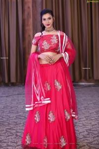 Komal Vyas in Pink Embellished Lehenga Choli