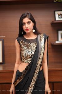 Naziya Khan in Black Designer Saree