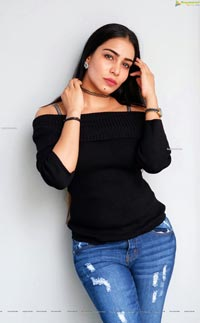 Sanjana Anne in Black Top and Jeans