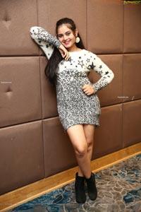 Vaanya Aggarwal in Faux Fur Mini Bodycon Dress