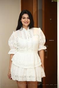 Siya Gautam in White Mini Dress