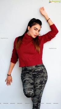Sanjana Anne in Camo Cargo Pants