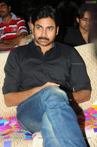 Pawan Kalyan with Akhira Nandan at Panjaa Audio Release