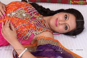 Hamsa Nadini in Long Churidar Kameez