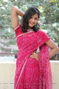 Sandeepthi in Saree