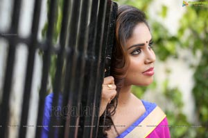 Karunya Chowdary in Saree