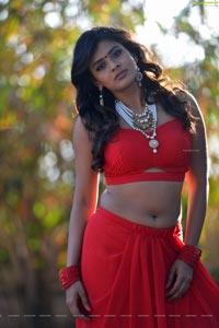 Hebah Patel Red Dress