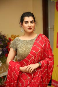 Archana Shastry in Red Ornate Saree