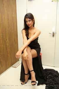 Twinkle Agarwal in Black Bandeau Maxi Dress