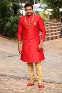 Aadarsh Pasupuleti at Agnisakshi Serial Sets