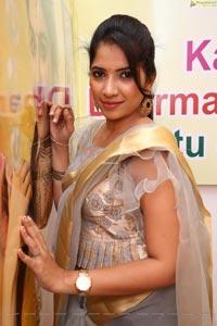 Anchor Indu at Kanchipuram GRT Silks Launch