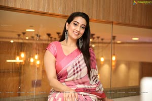 Manjusha in Georgette Saree