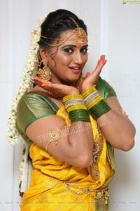 Princy B Krishnan at Roja Serial Sets