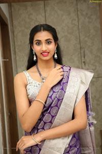 Laya Jupally at Sri Krishna Silks Collection Launch