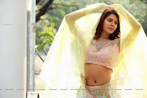 Kashish Singh In Yellow Designer Net Lehenga Choli
