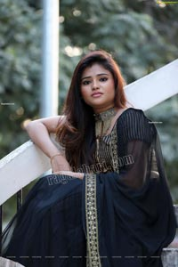 Rishika Nisha in Black Lehenga Exclusive Shoot